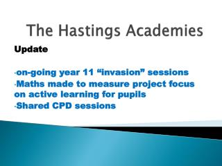 The Hastings Academies