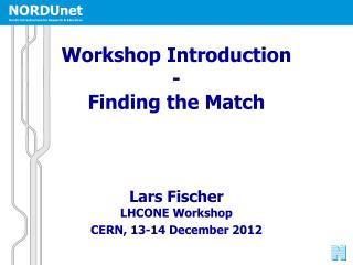 Workshop Introduction - Finding the Match