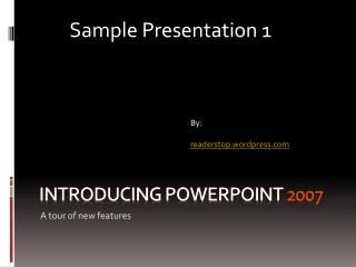 Introducing PowerPoint  2007
