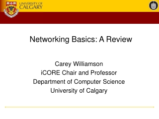 Networking Basics: A Review