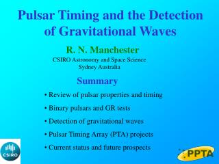 Pulsar Timing and the Detection of Gravitational Waves
