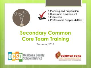Secondary Common Core Team Training