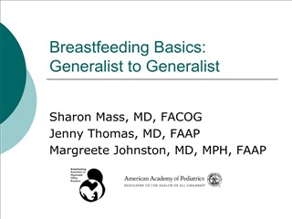 Breastfeeding Basics: Generalist to Generalist
