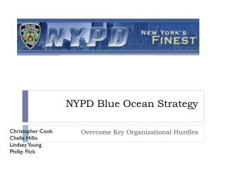 NYPD Blue Ocean Strategy