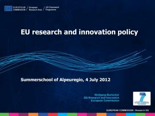 Summerschool of Alpeuregio, 4 July 2012