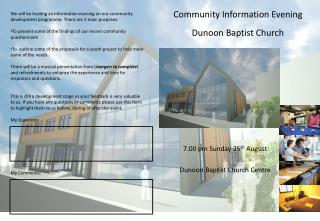 Community Information Evening