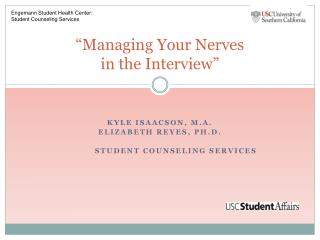 """Managing  Your  Nerves  in the Interview"""