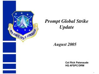 Prompt Global Strike Update
