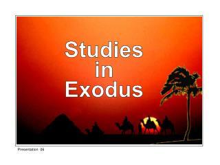 Studies in Exodus