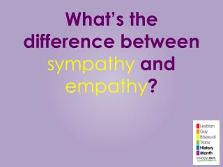 What's the difference between  sympathy  and  empathy ?