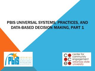 PBIS Universal Systems, Practices, and  Data-based decision making, Part 1