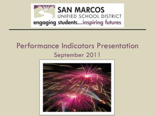 Performance Indicators Presentation September 2011