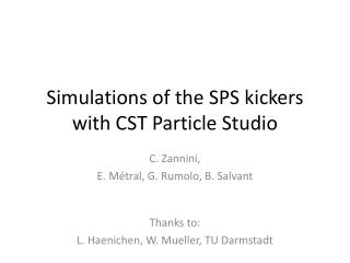 Simulations of the SPS kickers with CST Particle Studio