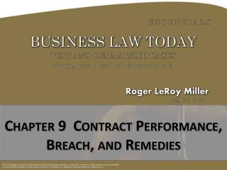 Chapter  9  Contract Performance, Breach, and Remedies
