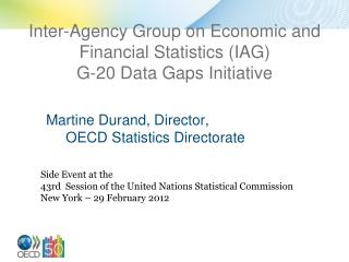 Inter-Agency Group on Economic and Financial Statistics (IAG) G-20 Data Gaps Initiative