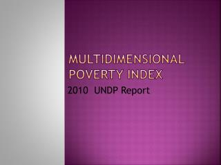 Multidimensional Poverty Index