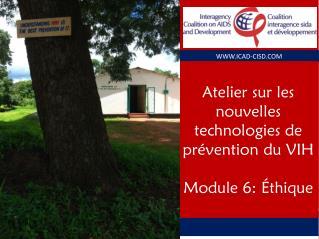 Atelier sur les nouvelles technologies de prévention du VIH Module 6: Éthique