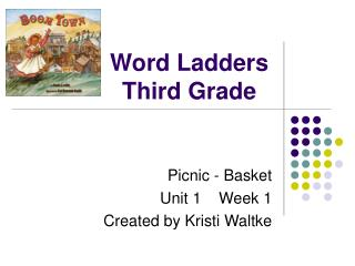 Word Ladders Third Grade