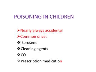 POISONING IN CHILDREN