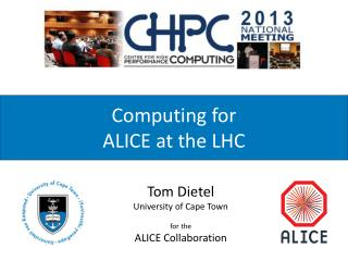Computing  for  ALICE  at the LHC