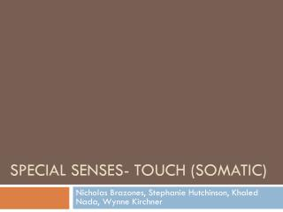Special senses- touch (somatic)