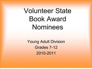 Volunteer State  Book Award Nominees