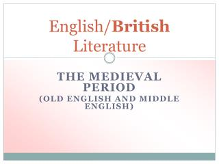 English/ British Literature