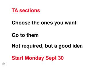 TA sections