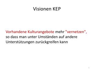 Visionen  KEP