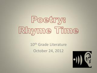 Poetry: Rhyme Time