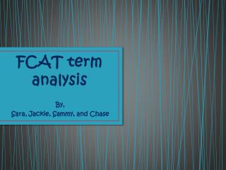 FCAT term analysis