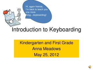 Introduction to Keyboarding