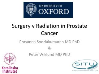 Surgery v Radiation in Prostate Cancer