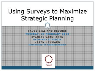 Using Surveys to Maximize Strategic Planning