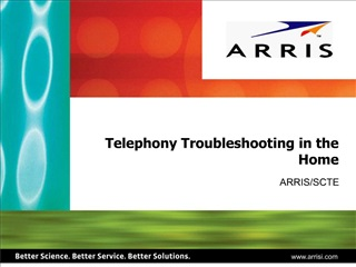 Telephony Troubleshooting in the Home