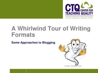 A Whirlwind Tour of Writing Formats