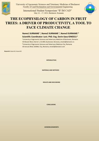 THE ECOPHYSILOGY OF CARBON IN FRUIT TREES: A DRIVER OF PRODUCTIVITY, A TOOL TO FACE CLIMATE CHANGE