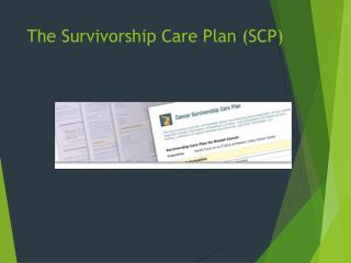 The  Survivorship Care Plan (SCP)