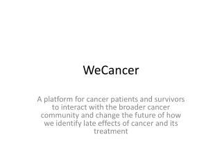 WeCancer