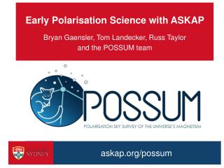 Early Polarisation Science with ASKAP