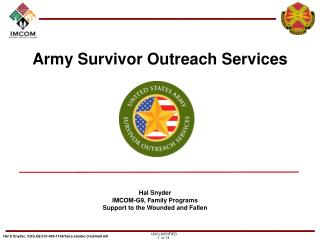 Army Survivor Outreach Services