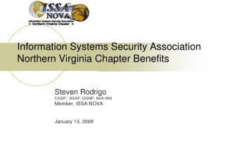 Information Systems Security Association  Northern Virginia Chapter Benefits