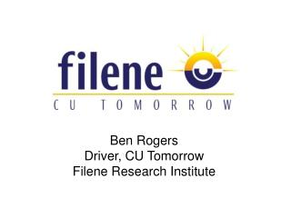 Ben Rogers Driver, CU Tomorrow Filene Research Institute