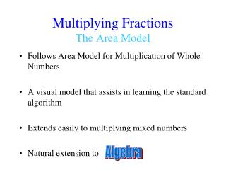 Multiplying Fractions The Area Model