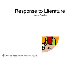 Response to Literature Upper Grades