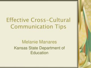Effective Cross-Cultural Communication Tips
