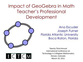 Impact of GeoGebra in Math Teacher's Professional Development