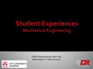 Student Experiences Mechanical Engineering