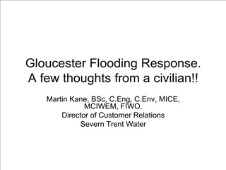 Gloucester Flooding Response. A few thoughts from a civilian