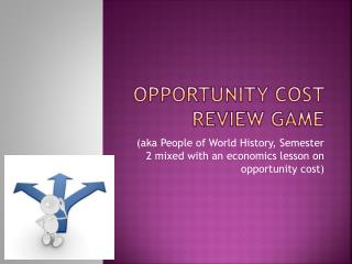 Opportunity Cost Review game